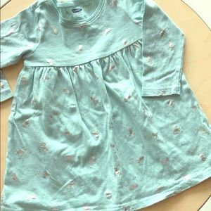 Unicorn Easter egg blue long tee shirt dress